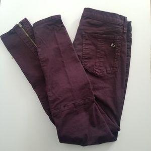 Rag & Bone skinny Jeans Maroon sz 29